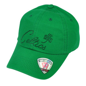 NBA Boston Celtics Top of the World Womens Green Rhinestone Hat Cap Sun Buckle