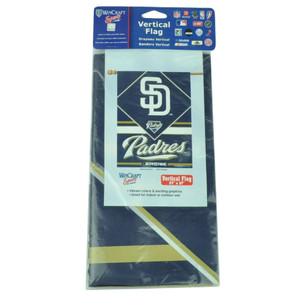 "MLB San Diego Padres Vertical Flag 27""x37"" Game Day Red Fan LA Indoor Outdoor"