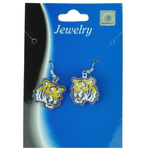 NCAA Louisiana LSU Tigers Jewelry Earing Womens Ladies Accessories Fan Game