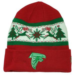 764d96c2229 NFL New Era Fillz Atlanta Falcons Cuffed Knit Beanie Toque Christmas Theme  Hat