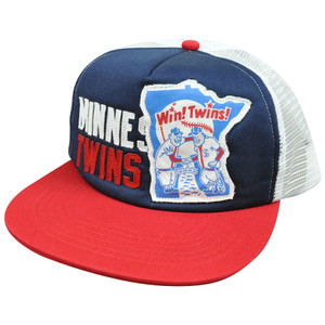 MLB American Needle Soul Felt Applique Snapback Mesh Hat Cap Minnesota Twins