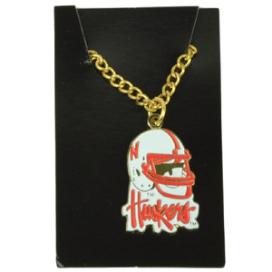 NCAA Nebraska Corn Huskers Necklace Jewelry Brass Womens Ladies Fan Game Sport