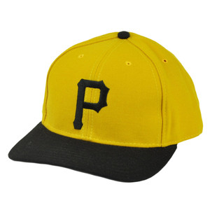 MLB American Needle Pittsburgh Pirates Fitted 7 1/2 Hat Cap Mustard Yellow Sport