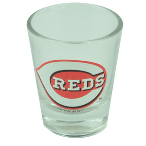 MLB Cincinnati Reds 2oz Printed Logo Shot Glass Alcohol Drinkware Fan Party Spor