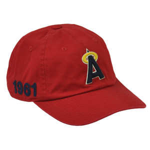 MLB American Needle Los Angeles Angels Relaxed Sun Buckle Hat Cap Slouch Red