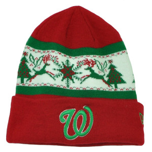 MLB New Era Fillz Washington Senators Cuffed Knit Beanie Toque Christmas Theme