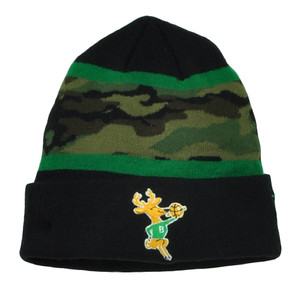 NBA New Era Milwaukee Bucks Fillz Camouflage Cuffed Beanie Knit Hat Camo Toque