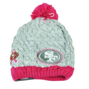 NFL New Era Breast Cancer Awareness Knit Beanie San Francisco 49ers Pink Womens