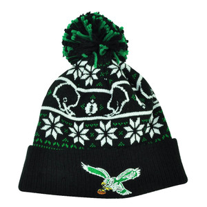 NFL New Era Sweater Chill Philadelphia Eagles Pom Pom Cuffed Knit Beanie Winter