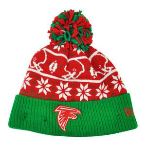 NFL New Era Sweater Chill Atlanta Falcons Pom Pom Cuffed Knit Beanie Winter Hat