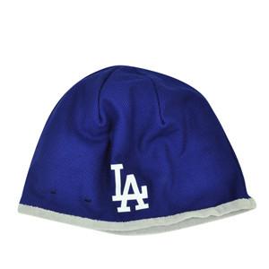 MLB New Era 2015 Tech Knit Beanie Los Angeles Dodgers Cuffless Toque Hat Winter