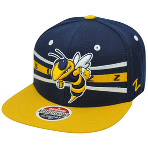 NCAA Zephyr Front Runner Georgia Tech Yellow Jackets Buzz Snapback GT Hat Cap