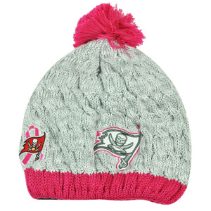 NFL New Era Breast Cancer Awareness Knit Beanie Tampa Bay Buccaneers Pink Womens