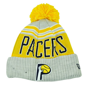 NBA New Era Winter Blaze Pom Pom Cuffed Knit Beanie Indiana Pacers Hat Toque