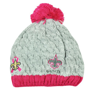 NFL New Era Breast Cancer Awareness Knit Beanie New Orleans Saints Pink Womens