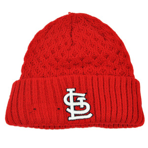 MLB New Era Cuffed Cutie St Louis Cardinals Crochet Womens Knit Beanie Hat Red