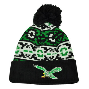 NFL New Era Retro Chill Cuffed Knit Beanie Pom Pom Winter Philadelphia Eagles