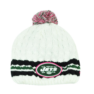 NFL New Era 14 Breast Cancer Awareness Womens Knit Beanie New York Jets Toque