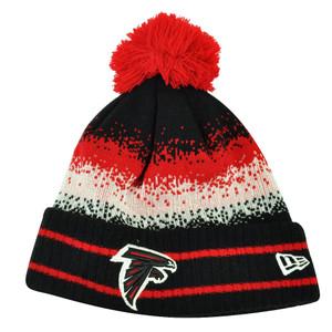NFL New Era Spec Blend Atlanta Falcons Cuffed Pom Pom Knit Beanie Hat Toque Red