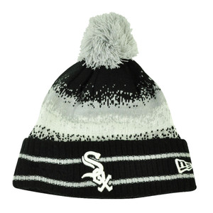 MLB New Era Spec Blend Chicago White Sox Cuffed Pom Pom Knit Beanie Hat Toque