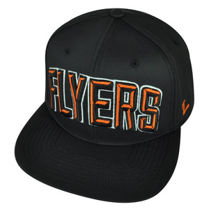 NHL Zephyr Philadelphia Flyers Orange Villain Flat Bill Snapback Black Hat Cap