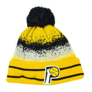 NBA New Era Spec Blend Indiana Pacers Cuffed Pom Pom Knit Beanie Hat Toque Yello