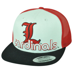 NCAA Louisville Cardinals Cards Top of The World Mesh Flat Bill Snapback Hat Cap