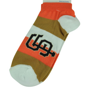 MLB San Francisco Giants Womens Medium 6 - 11 Striped Ankle Socks Fan Spirit