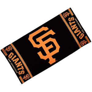 MLB McArthur San Francisco Giants Black Towel Cotton Gym Football Game Day Beach