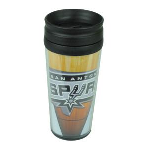 NBA San Antonio Spurs Plastic Yellow Printed Travel Tumbler 16oz Mug Coffee Cup