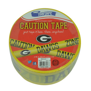 NCAA Georgia Bulldogs Caution Dawgs Zone Tape Barbecue Tailgate Dorm Room Decor