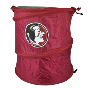 NCAA Florida State Seminoles 3 in 1 Trash Can Hamper Cooler Red Beach Home Noles