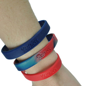 NFL New England Patriots Bracelet Three 3 Piece Elastic Band Fan Womens Ladies