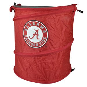 NCAA Alabama Crimson Tide 3 in 1 Collapsible Trash Can Hamper Cooler Red Beach