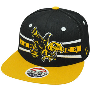 NCAA Iowa Hawkeyes Hawks Zephyr Front Runner Snapback Flat Bill Two Tone Hat Cap