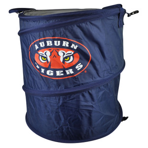 NCAA Auburn Tigers 3 in 1 Collapsible Trash Can Hamper Cooler Blue Beach Home
