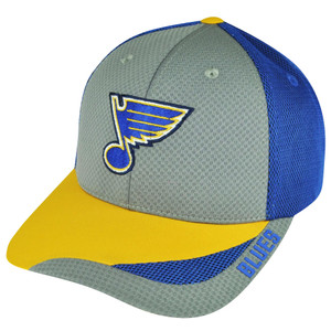 NHL American Needle St Louis Blues Technician Snapback Hat Cap Gray Adjustable