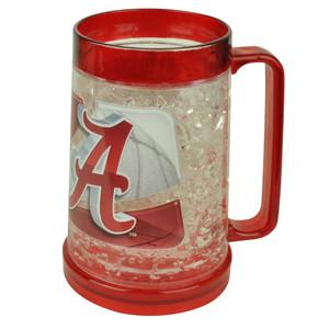 NCAA Alabama Crimson Tide Color Freezer Mug Crushed Ice 16oz Drinks Beer Cup