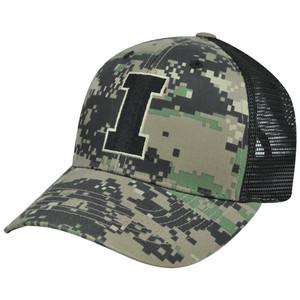 NCAA Iowa Hawkeyes Digital Camo Camouflage Curved Bill Mesh Snapback Hat Cap