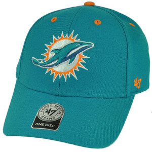NFL '47 Brand Forty Seven Miami Dolphins Audible Hat Cap  Turquoise Sport