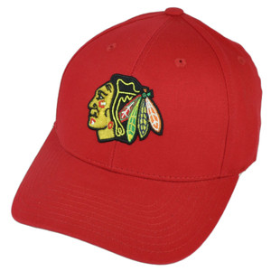 NHL American Needle Chicago Blackhawks  Hat Cap Red Adjustable Headgear