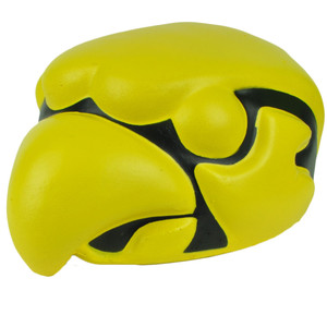 NCAA Iowa Hawkeyes Foam Head Mascot Yellow Black Fan Novelty Sports Game Day