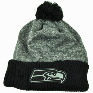 NFL New Era Grey Collection Seattle Seahawks Sport Knit Beanie Cuffed Pom Pom