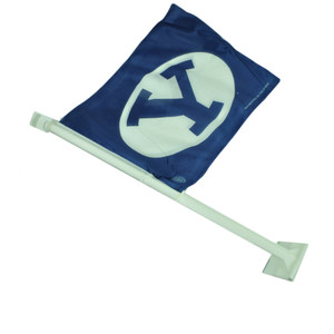 NCAA Brigham Young Cougars 1 Car Window Flag Sports Tailgate Fan Game Blue White