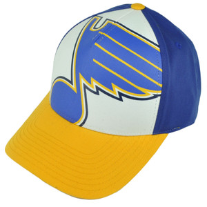 NHL American Needle St Louis Blues Snapback Blue Yellow Hat Cap Curved Sports