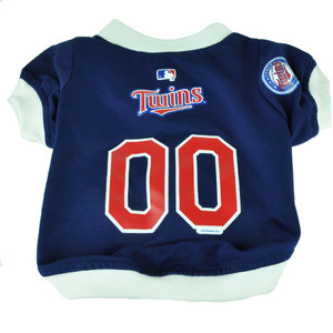 MLB Minnesota Twins Pet Gear Small Shirt Dog Puppy Apparel Blue Hunter Fan Small