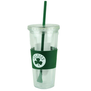 NBA Boston Celtics 22oz Tumbler Cup Straw Lid Water Liquid Translucent Sports
