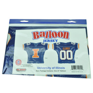 NCAA Illinois Fighting Illini Balloon Jersey Helium 23in Party Celebration Sport