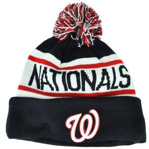 MLB New Era Washington Nationals Biggest Fan Cuffed Knit Beanie Pom Pom Toque