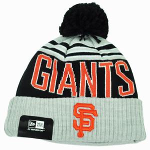 MLB New Era San Francisco Giants Winter Blaze Cuffed Knit Toque Gray Hat Pom Pom